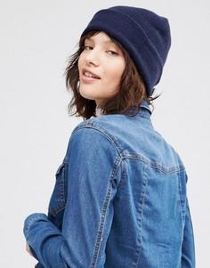 Кашемировая шапка Johnstons - Темно-синий