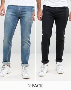2 пары супероблегающих джинсов (черные и синие) ASOS - СКИДКА 15 - Мульти