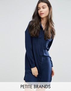 Классическое платье-рубашка Vero Moda Petite - Черный