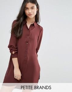 Платье-рубашка с разрезами Vero Moda Petite - Коричневый
