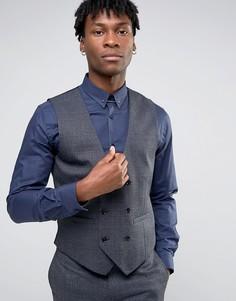 Облегающий жилет Burton Menswear - Темно-синий