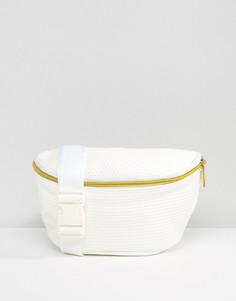 Белая сумка-кошелек на пояс с перфорацией Mi-Pac - Белый