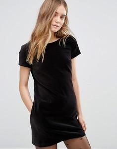 Бархатное цельнокройное платье Jack Wills - Черный