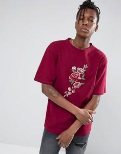 Oversize-футболка с цветочным принтом Jaded London - Зеленый