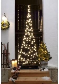 Светодиодная елка на дверь