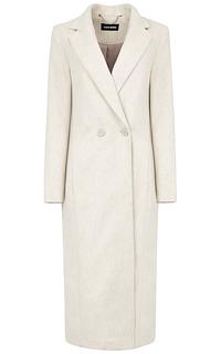шерстяное удлиненное пальто La Reine Blanche