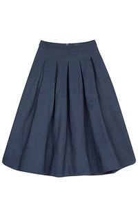 юбка-миди в складку La Reine Blanche
