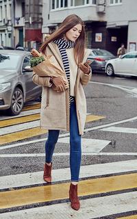 фактурное утепленное пальто La Reine Blanche