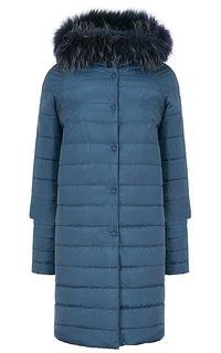 Пальто на синтепоне с отделкой мехом енота Reali 26