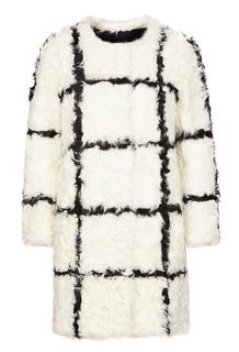 Шуба из меха овчины с контрастной отделкой Virtuale Fur Collection