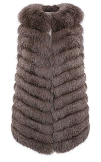 Удлиненный жилет из меха песца Virtuale Fur Collection