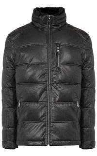 Мужская куртка из экокожи с отделкой искусственным мехом Al Franco