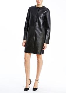 Пальто из кожи Vericci