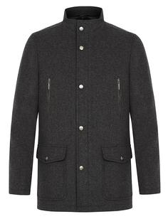 Шерстяное пальто с воротником-стойкой Al Franco