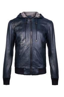 Кожаная куртка-бомбер Urban Fashion For Men