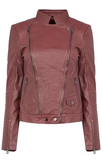 Кожаная куртка-косуха с отложным воротником La Reine Blanche