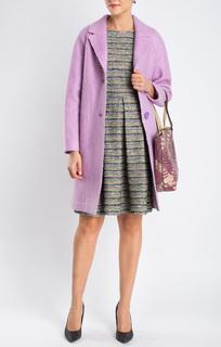 Фактурное однобортное пальто Честерфилд La Reine Blanche