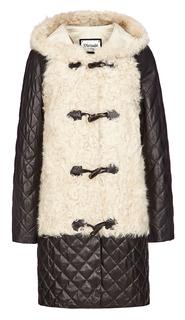 Дафлкот из меха овчины и натуральной кожи Virtuale Fur Collection