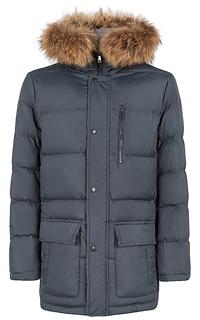 утепленная куртка с мехом енота Al Franco