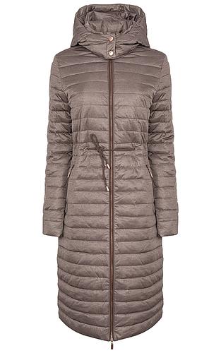 стеганое пальто на натуральном пуху