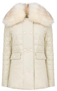 Утепленная куртка из экокожи с отделкой искусственным мехом Acasta