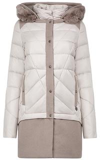 Комбинированное пальто на натуральном пуху La Reine Blanche