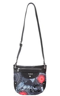 комбинированная сумка из экокожи и текстиля Desigual