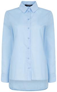 рубашка с асимметричным низом La Reine Blanche