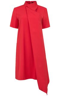 асимметричное платье La Reine Blanche