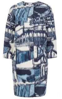 шерстяное пальто с принтом La Reine Blanche