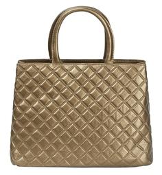Стеганая сумка из металлизированной кожи La Reine Blanche