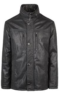 утепленная замшевая куртка на молнии Jorg Weber