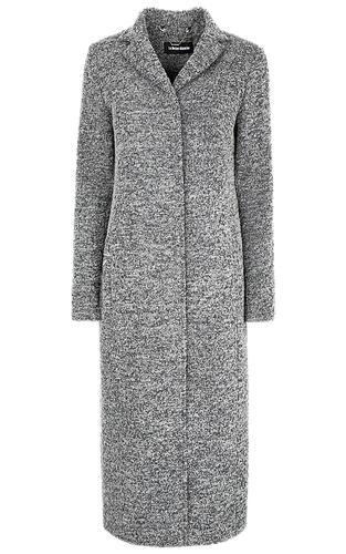 Полушерстяное удлиненное пальто