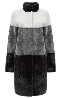 Пальто из овчины с воротником-стойкой Снежная Королева
