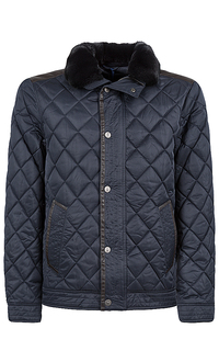 куртка на синтепоне с мехом кролика Jorg Weber