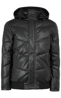 Мужская куртка из экокожи с отделкой трикотажем Al Franco