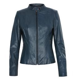 Приталенная кожаная куртка на La Reine Blanche