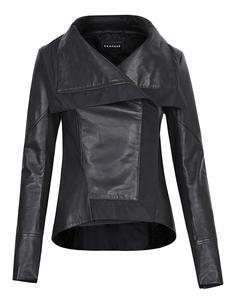 Асимметричная кожаная куртка на молнии Vericci