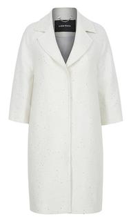 Легкое пальто из фактурной ткани с пайетками La Reine Blanche