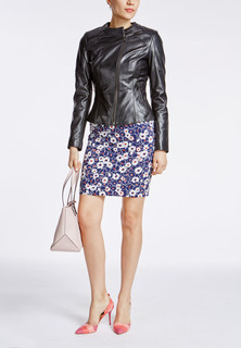 Кожаная куртка с асимметричной молнией La Reine Blanche