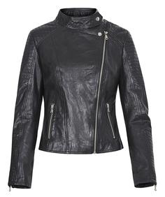 Кожаная куртка-косуха с отстрочкой La Reine Blanche