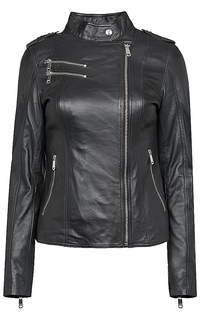 утепленная куртка из натуральной кожи La Reine Blanche