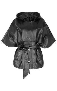 кожаная куртка с укороченным рукавом La Reine Blanche