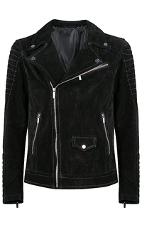 утепленная замшевая куртка-косуха Urban Fashion For Men