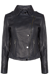кожаная куртка-косуха с клепками La Reine Blanche