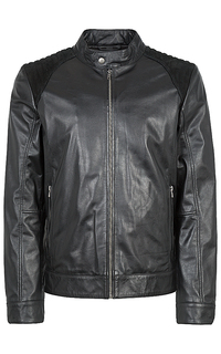 утепленная кожаная куртка с замшей Jorg Weber