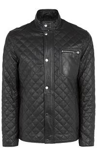 утепленная кожаная куртка с отстрочкой Jorg Weber