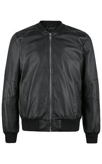 утепленная кожаная куртка-бомбер Urban Fashion For Men