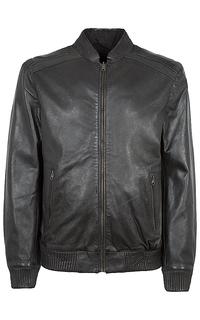 кожаная куртка-бомбер на молнии Urban Fashion For Men