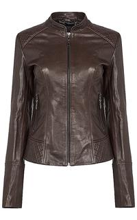 кожаная куртка на молнии La Reine Blanche